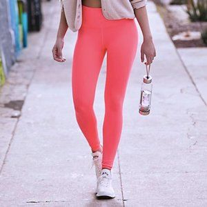 New free People movement neon coral leggings xs/s